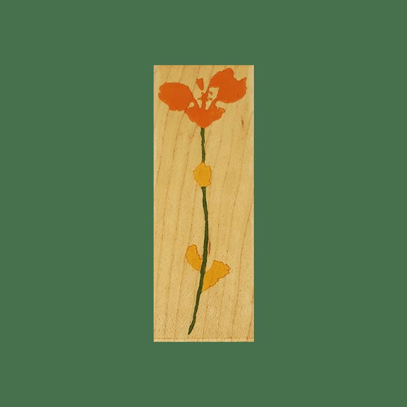 F2621 A REAL VIOLET חותמת גומי על עץ פרח הסיגלית
