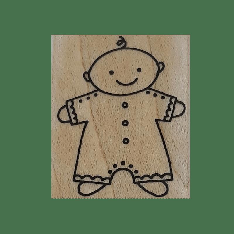 A4973 חותמת גומי על עץ בובה קטנה