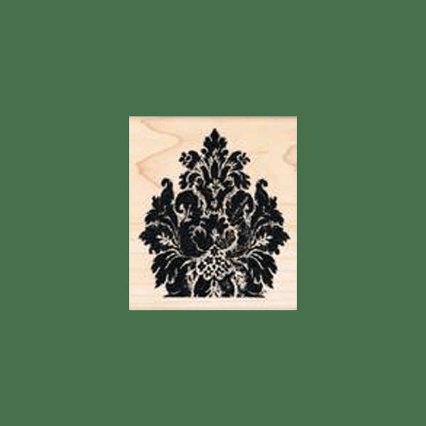 ANTIQUE-MATERIAL-FLOWER חותמת גומי על עץ פרח עתיק על בד של טים הולץ