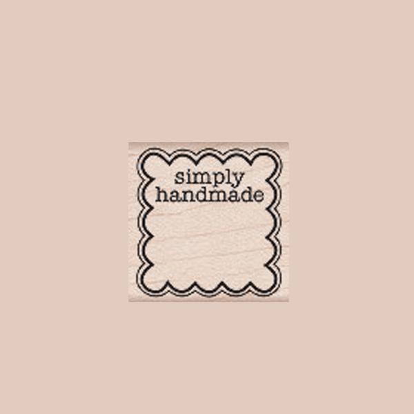 B5389 SIMPLY HANDMADE חותמת גומי על עץ פשוט עבודת יד