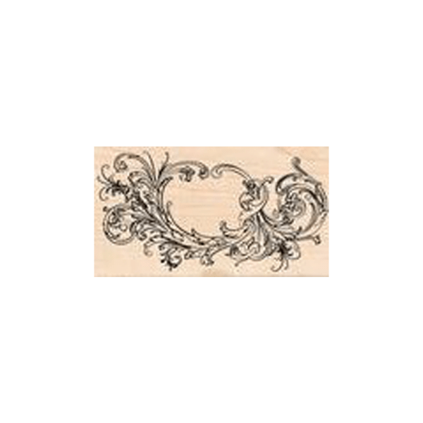 BIG-FLOURISH חותמת גומי על עץ מבית טים הולץ