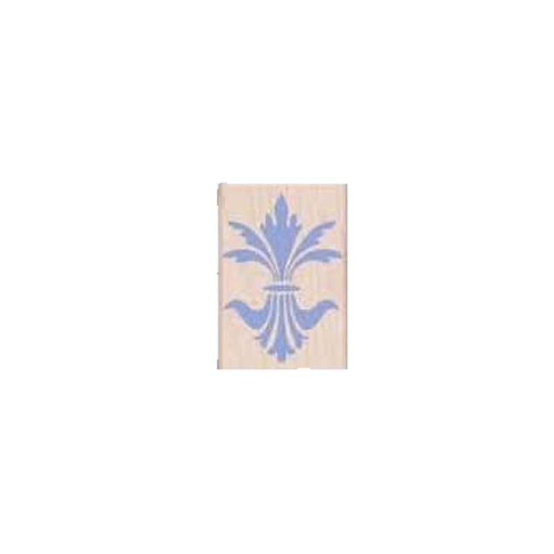 C4054 FANCY FLEUR DE LIS חותמת גומי על עץ פרח פלור די לי מהודר