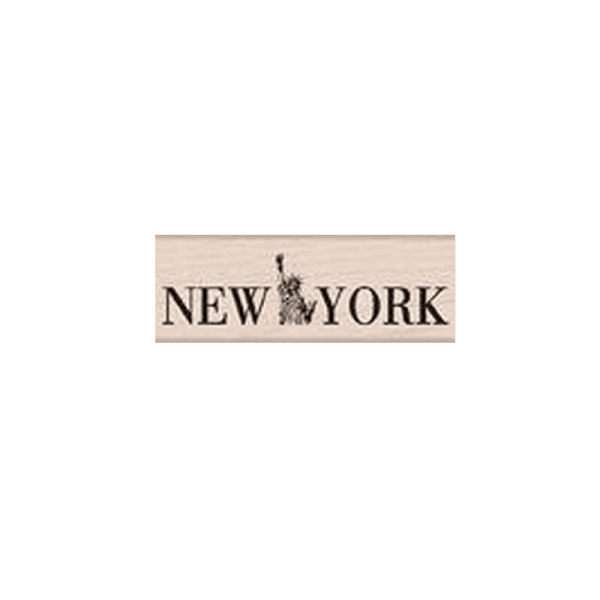 C4983 NEW YORK חותמת גומי על עץ ניו יורק