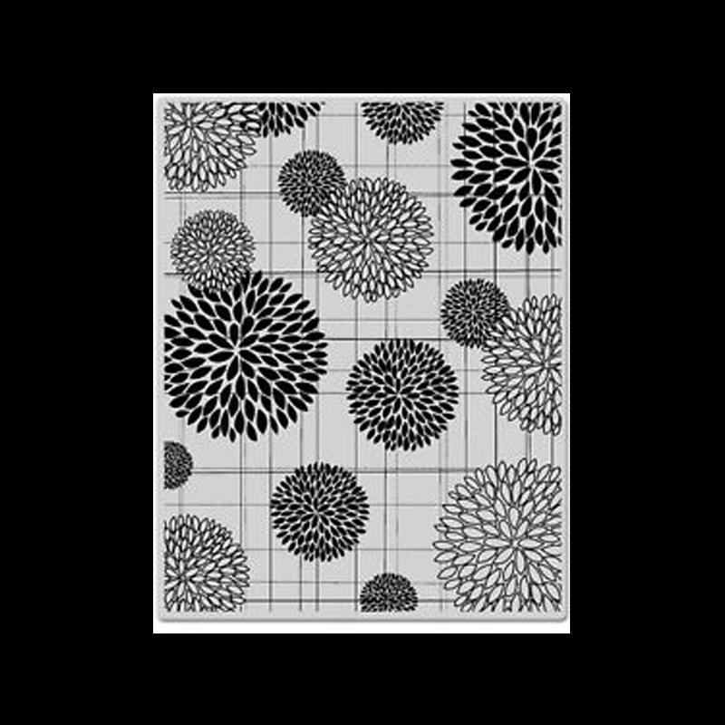 CG315 חותמת רקע פיצוץ של פרחים