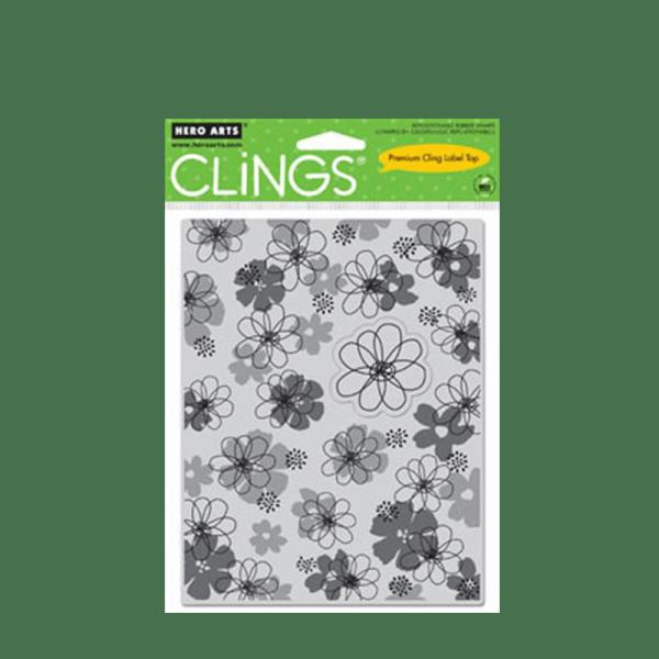 CG352 חותמת רקע מגומי פרחים