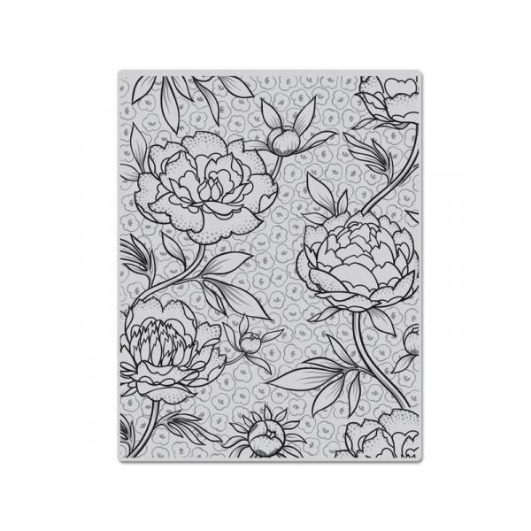 CG403 חותמת גומי רקע פרחים גדולים