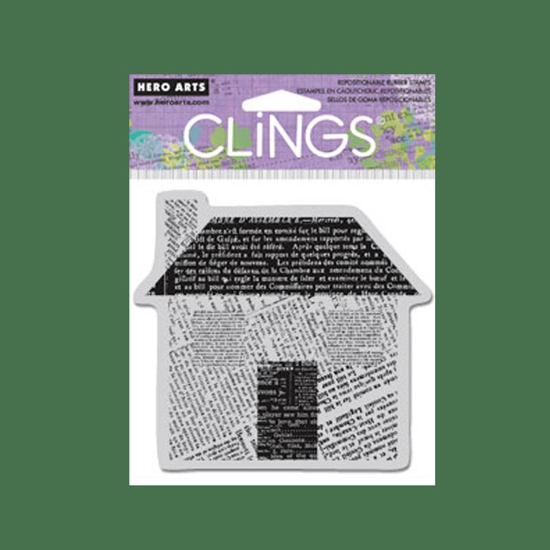 CG415 חותמת גומי בית עם הדפס עיתון