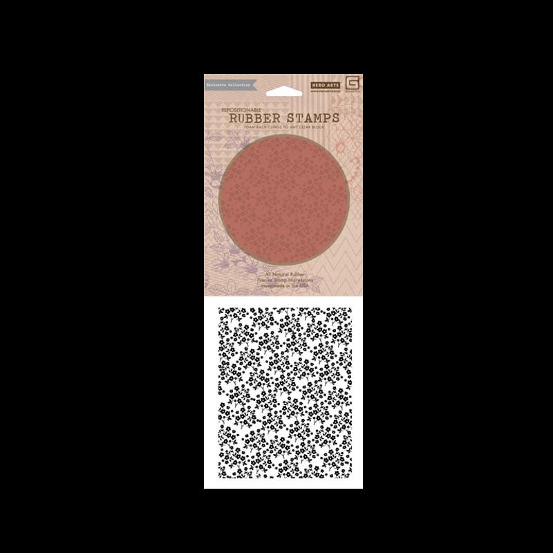 CG 476 חותמת רקע פרח עדין