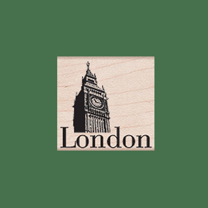 D4986 LONDON חותמת גומי על עץ לונדון