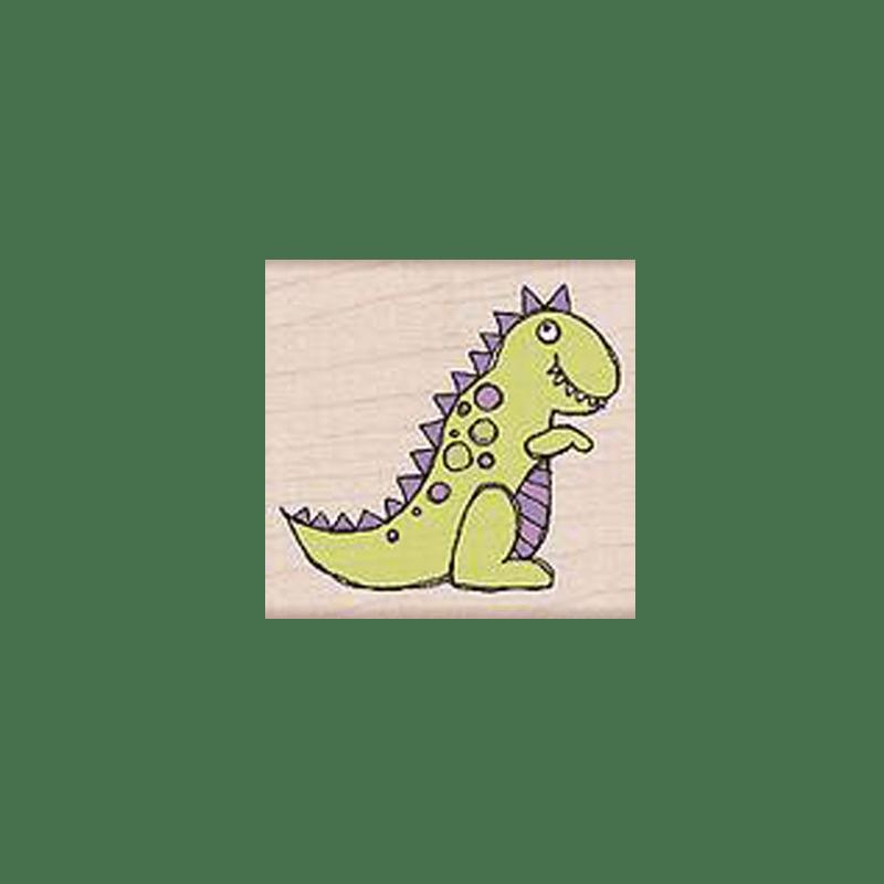 E4388 DINO חותמת גומי על עץ דינו הדינוזאור
