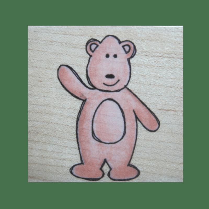 E4470 BEAR חותמת גומי על עץ דובי הדוב