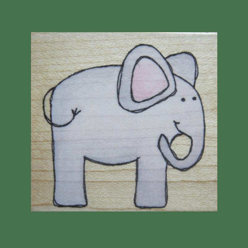 E4471 ELEPHANT חותמת גומי על עץ פילפילון