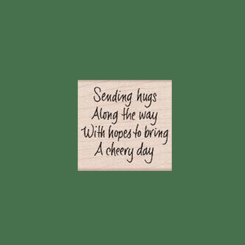 E4645 SENDING HUGS FOR A CHEERY DAY חותמת גומי על עץ חיבוקים ליום עליז