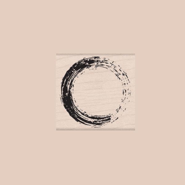 E5784 PAINTED CIRCLE חותמת גומי על עץ כתם כוס עגולה