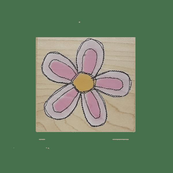 F4059 STITCHED BLOSSOM חותמת גומי על עץ פרח עם תיפורים