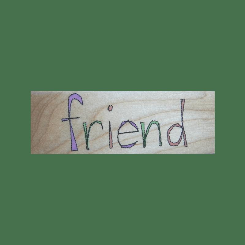 F4153 FRIEND חותמת גומי על עץ מלל חבר