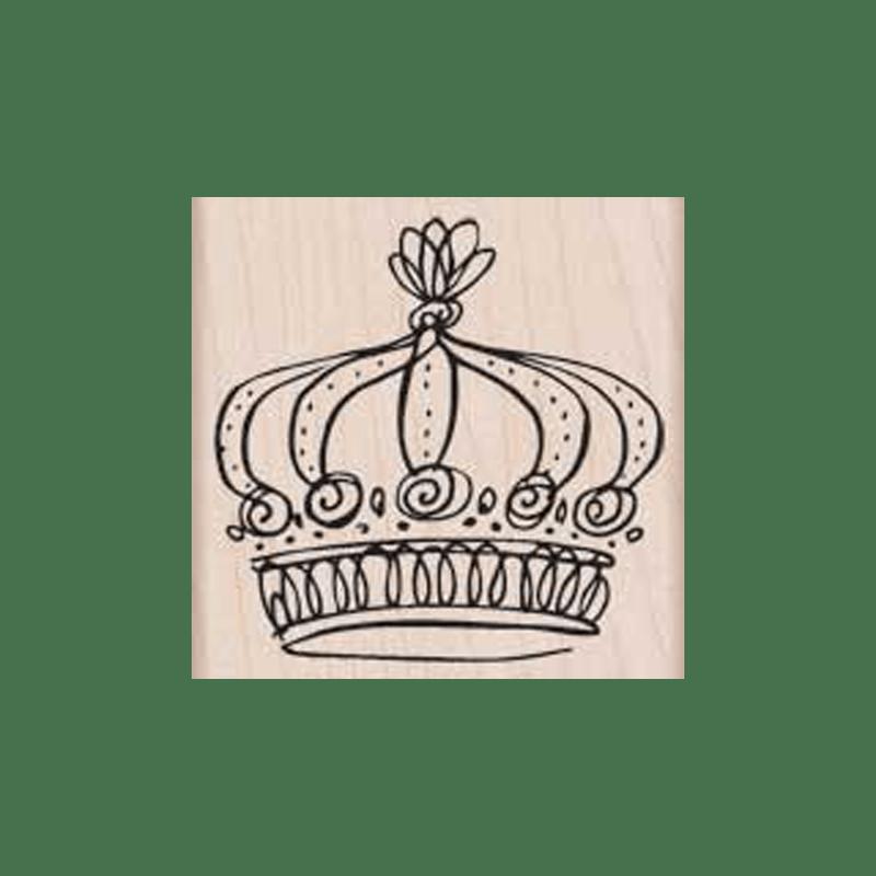 F5134 REGAL CROWN חותמת גומי על עת כתר המלכות