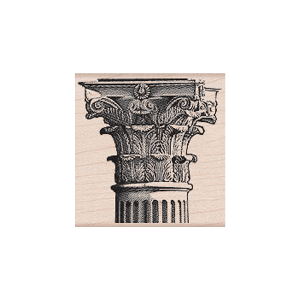 F5403 CORINTHIAN COLUMN חותמת גומי על עץ עמוד מיוון נעתיקה