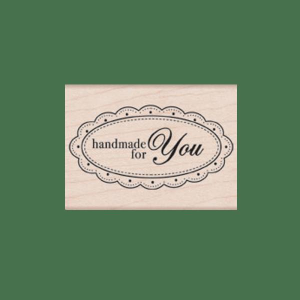 F5548 HANDMADE FOR YOU חותמת גומי על עץ מלל עשוי בעבודת יד בשבילך