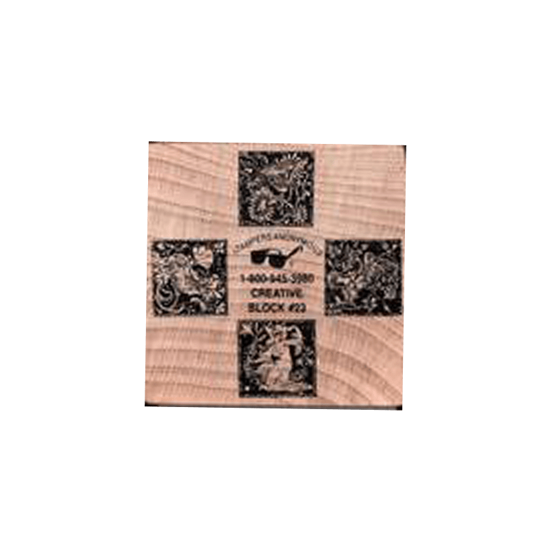 FLOWER CUBE חותמות גומי על קובית עץ פרחים של טים הולץ