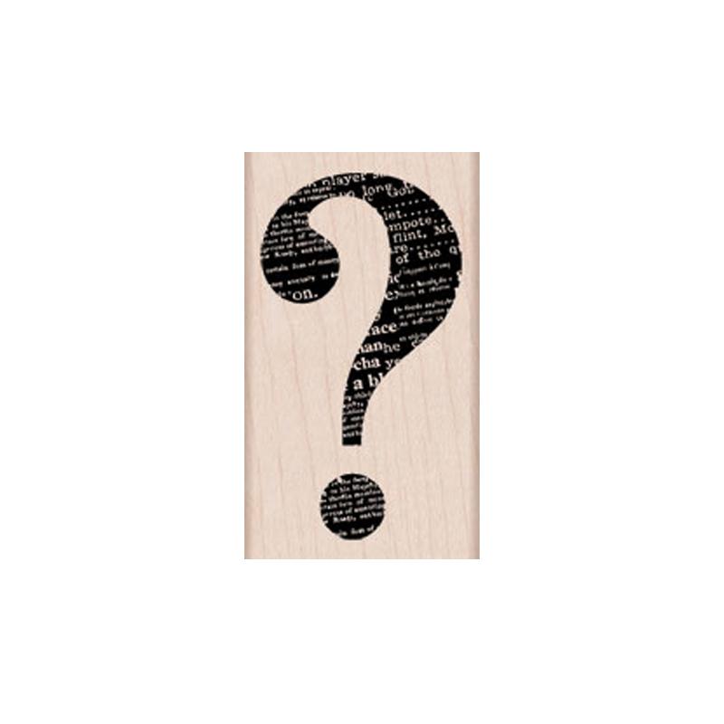 G5550 QUESTION MARK חותמת גומי על עץ סימן שאלה גדול