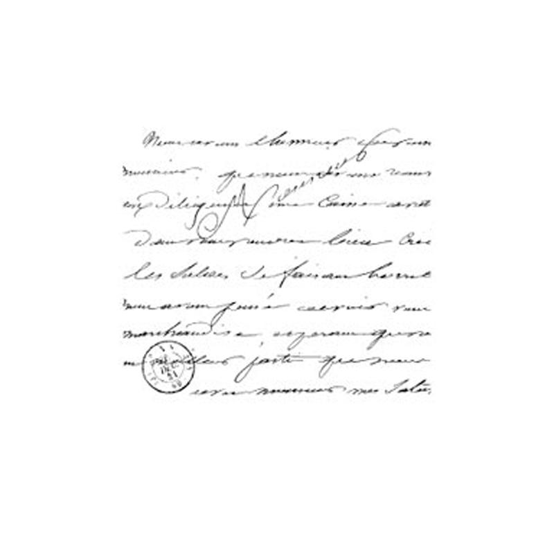 H2141 MANUSCRIPT BG חותמת גומי על עץ רקע טקסט כתב יד