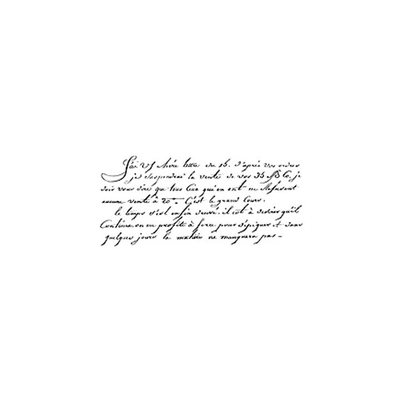 H2365 FRENCH WRITTING חותמת גומי על עץ כתב יד בצרפתית
