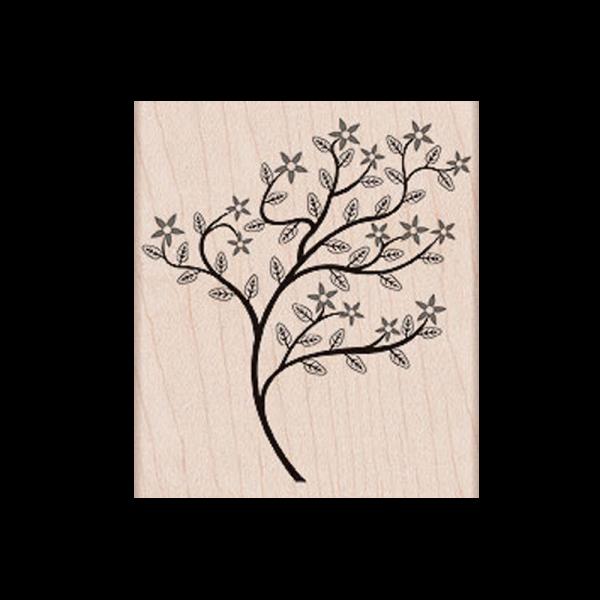 H4918 WINDY TREE חותמת גומי על עץ. עץ סוער