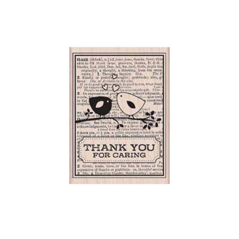 H5110 THANK YOU CARD חותמת גומי על עץ. תודה