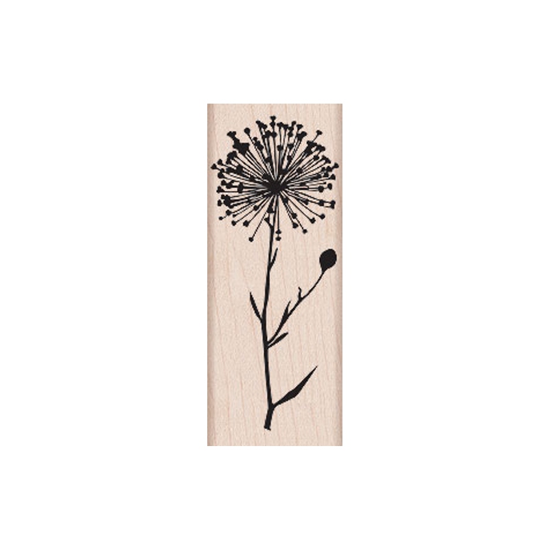 H5312 SILHOUETTE BURST חותמת גומי על עץ סביון