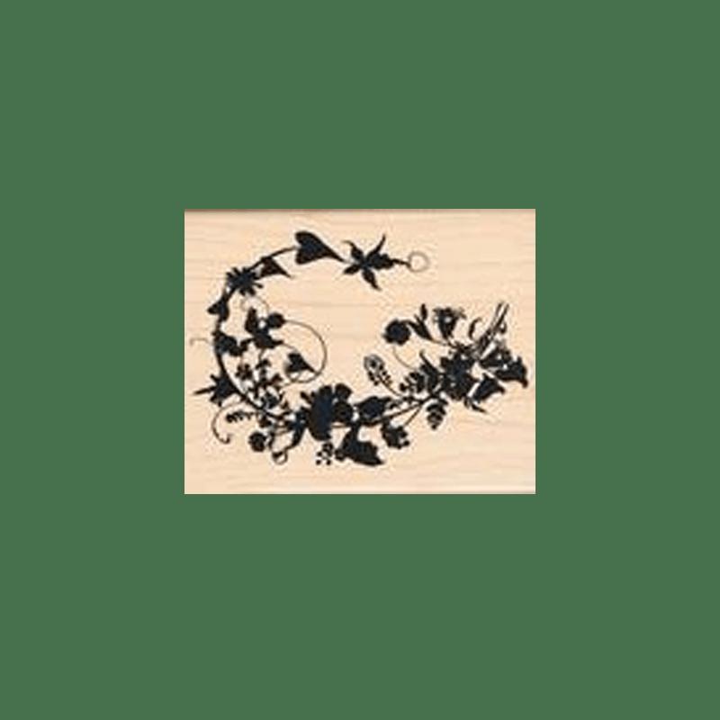 LEAVES-AND-HEARTS חותמת גומי על עץ עלים ולבבות של טים הולץ