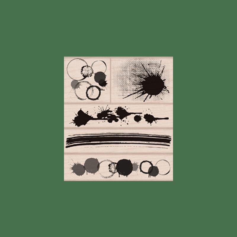 LP311 RANDOM SPLOTCHES חותמות גומי על עץ כתמים רנדומלים