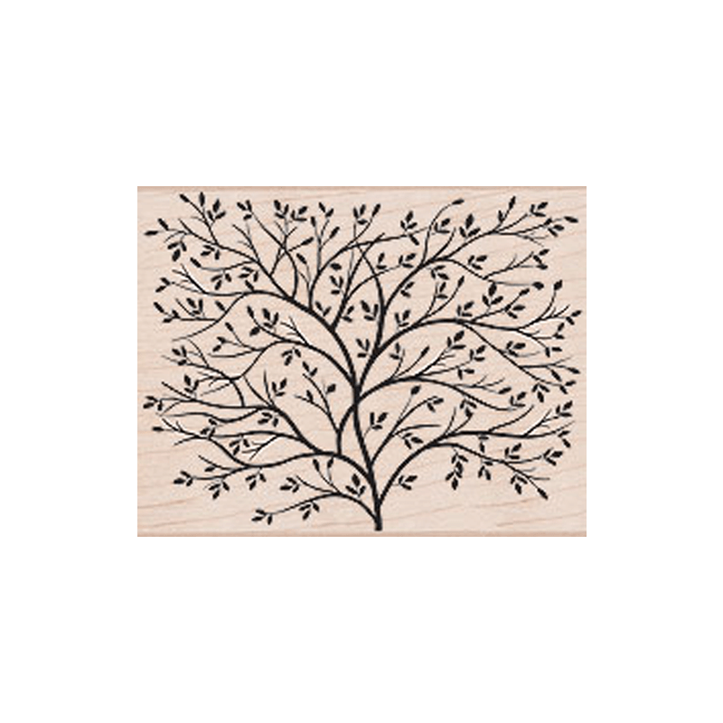 S5037 DESIGN BLOCK TREE חותמת רקע גומי על עץ . דוגמת עץ גדול