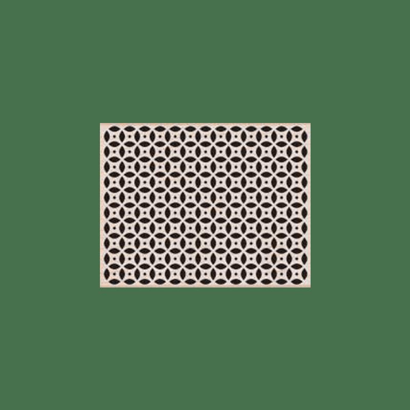 S5141 4 LEAF GRID חותמת גומי רקע רשת 4 עלים