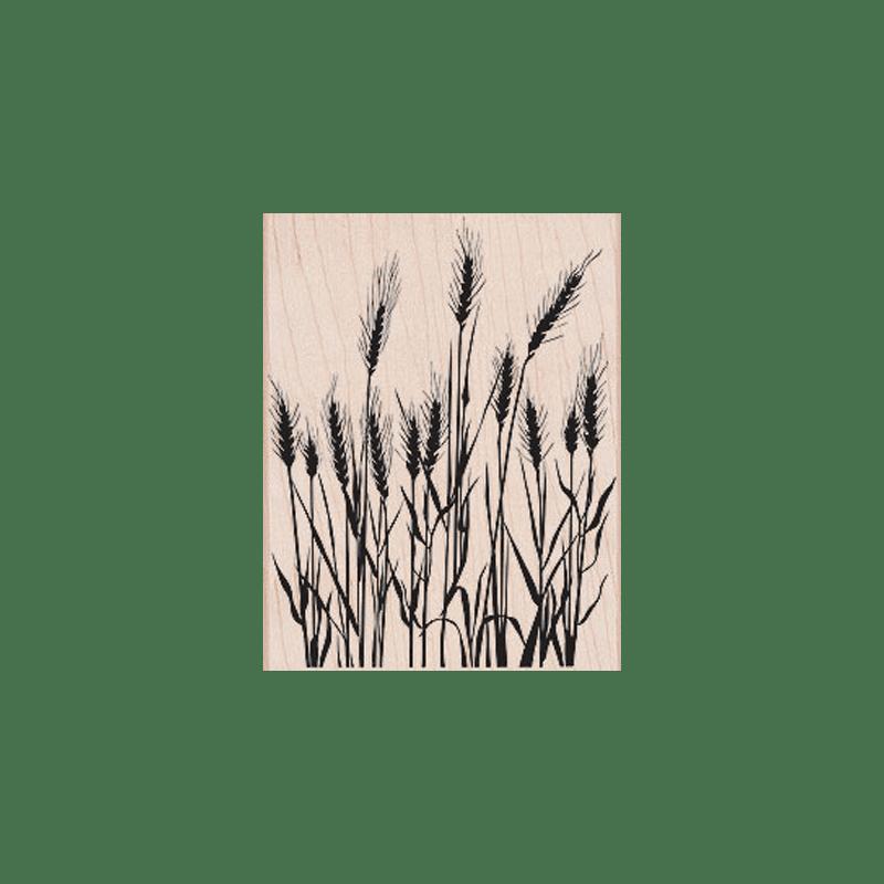 S5316 SILHOUETTE GRASS חותמת גומי על עץ רקע חיטה