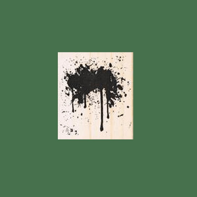 SPLASH STAIN חותמת גומי על עץ כתם שפריץ של טים הולץ