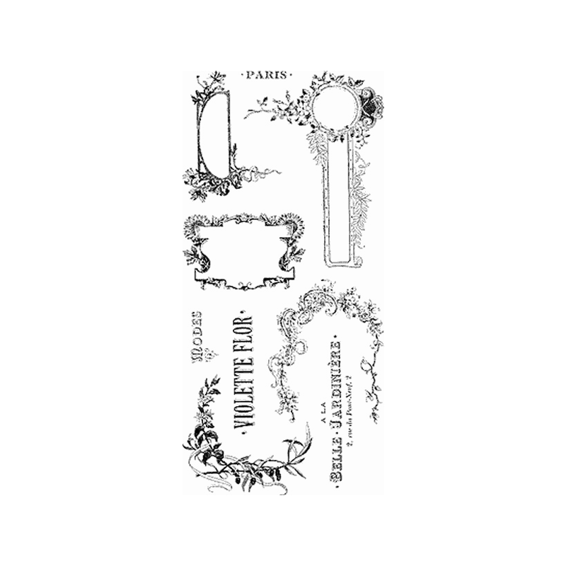 VINATAGE LABLES חותמות שקופות תוויות וינטג'