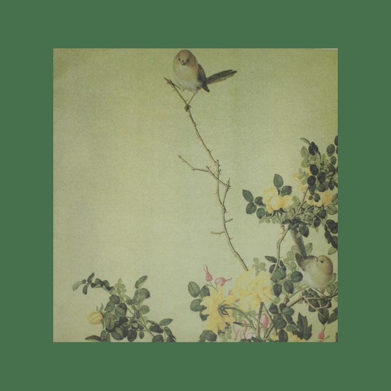 """GARDEN-SONGBIRD דף מדוגם 30 על 30 ס""""מ מראה וינטג' ציפור בגינה"""
