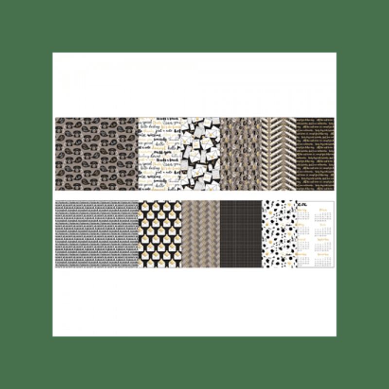NOTEWORTHY-PAPER-PACK סטאק נייר מדוגם 6 על 6 אינצ' מבית ריצארד גאריי