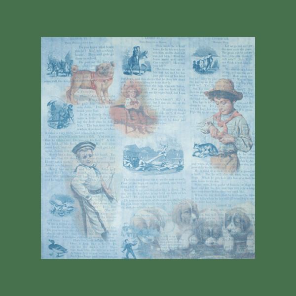 STORIES-FOR-BOYS נייר מדוגם 30 על 30 מראה וינטג' סיפורים לבנים
