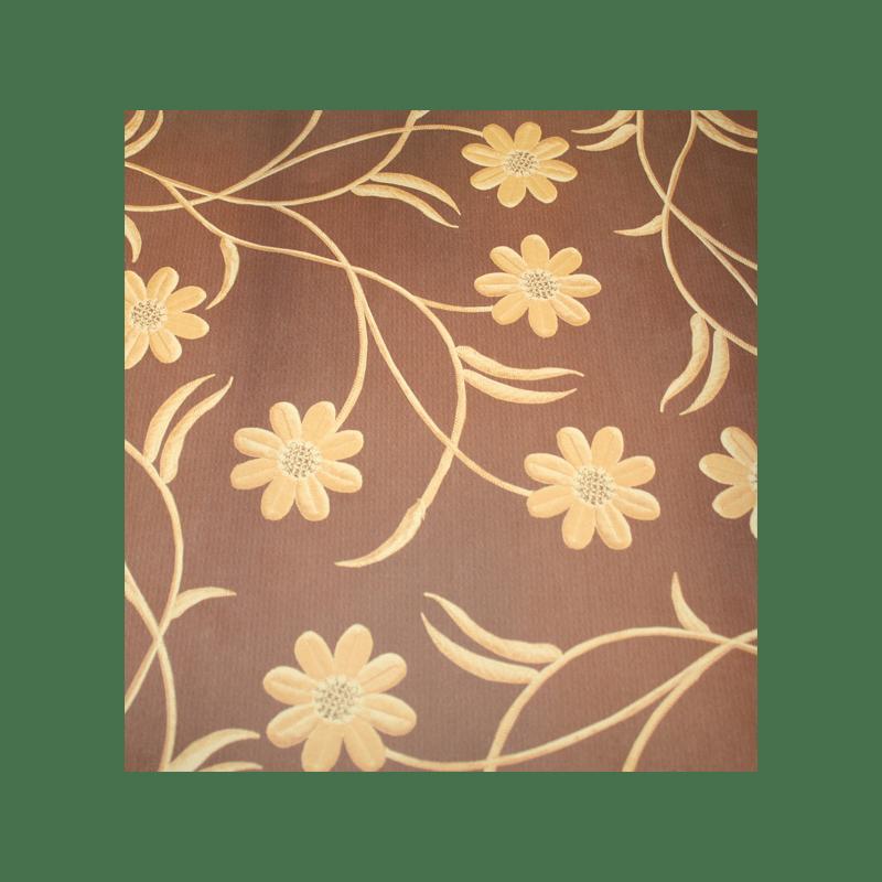 """DI-VINCI נייר מדוגם 30 על 30 ס""""מ פרחים חום וזהב"""