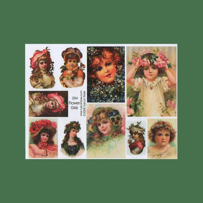 FLOWER-GIRLS תמונות של וינטג' ילדי הפרחים