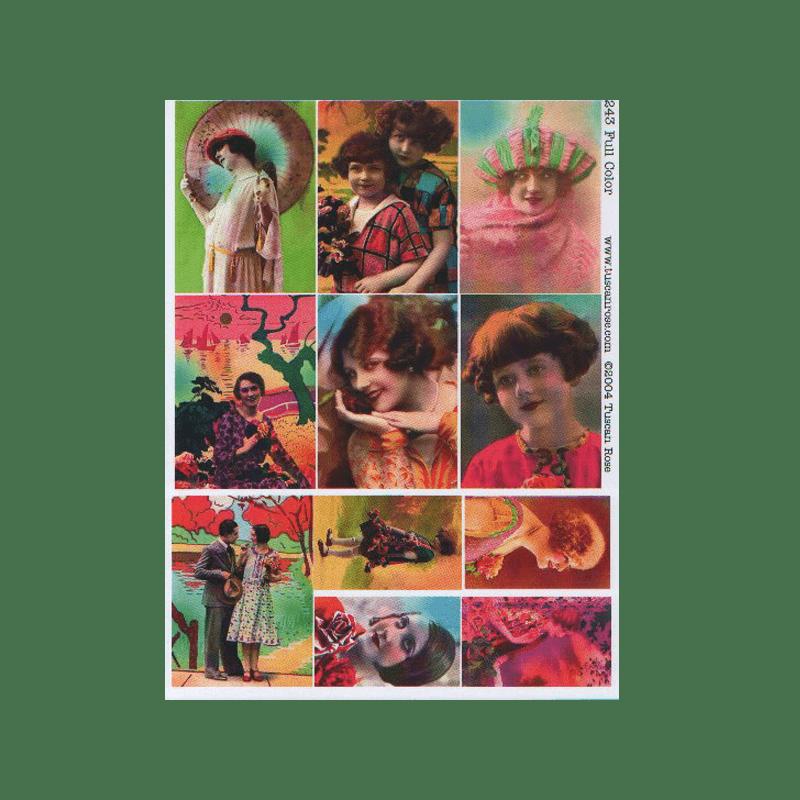 FULL-COLOR כרטיסי ATC נשות וינטג' בצבע מלא