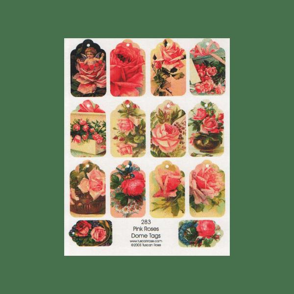 PINK-ROSES תגים שושנים ורודים