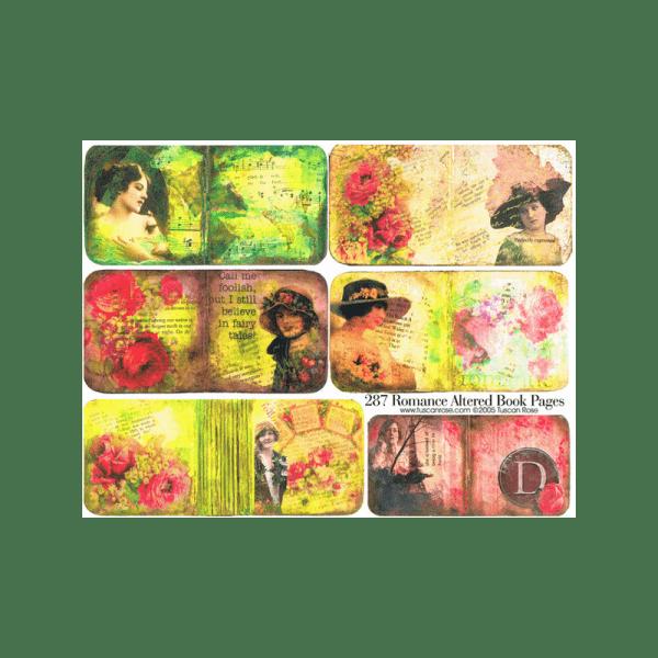 ROMANCE-ALTERED-BOOK-PAGES דפי ספר מטופלים של רומנטיקה