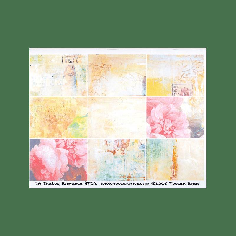 SHABBY-ROMANCE כרטיסי ATC רומנטיקה שאבי שיק