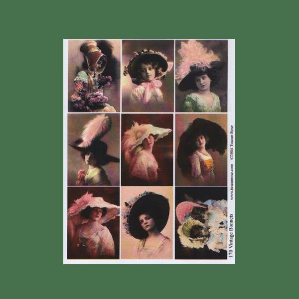 VINTAGE-BONNETS דף בסגנון וינטג' כובעים