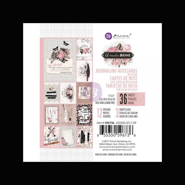 כרטיסי ג'ורנלינג אמיליה רוז בגודל 3X4 אינצ'